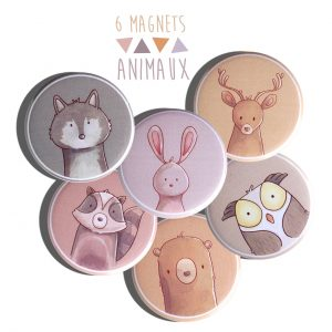 Miroirs de poche, magnets, badges