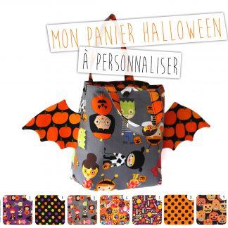 Panier halloween sac à bonbons enfant tissu à personnaliser - Julie & COo