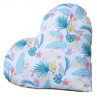 Coussin Saint Valentin tropical et or tissu cadeau décoration - Julie & COo