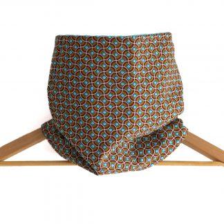 Snood mixte réversible polaire et tissu coton motifs wax graphiques et colorés - Julie & COo
