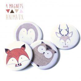 Magnets animaux de la forêt - Julie & COo