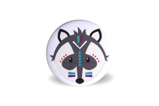 Magnet têtes d'animaux tribals loup - Julie & COo