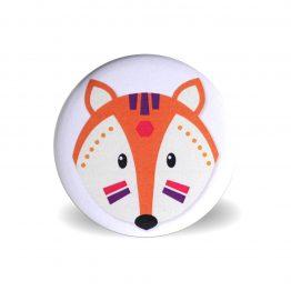 Magnet têtes d'animaux tribals renard - Julie & COo