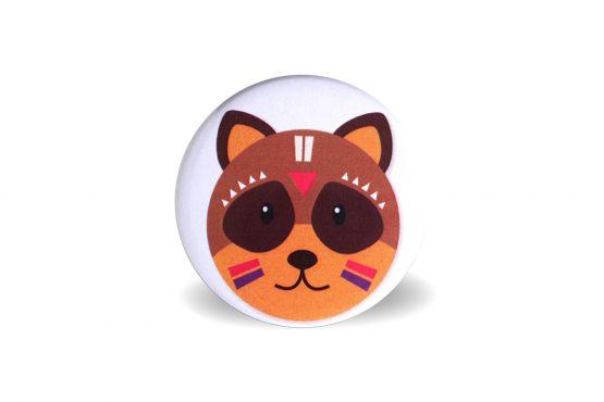 Magnet tête de raton laveur tribal - Julie & COo