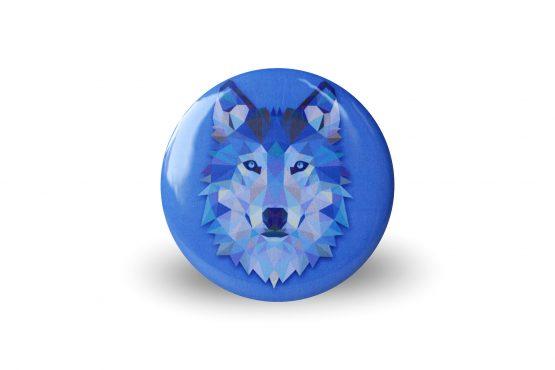 Magnet loup coloré et graphique bleu - Julie & COo