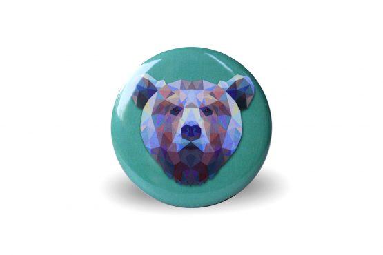Magnet ours coloré et graphique vert - Julie & COo