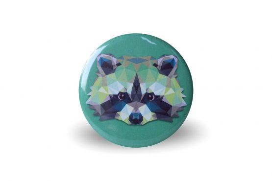 Magnet raton laveur coloré et graphique vert - Julie & COo