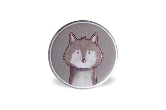 Aimant magnet animal de la forêt loup - Julie & COo