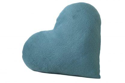 Coussin coeur Saint-Valentin graphique cadeau décoration pour elle bleu turquoise - Julie & COo