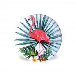 Magnets frigo aimant tropical exotique décoration cuisine flamant rose collection vacances - Julie & COo