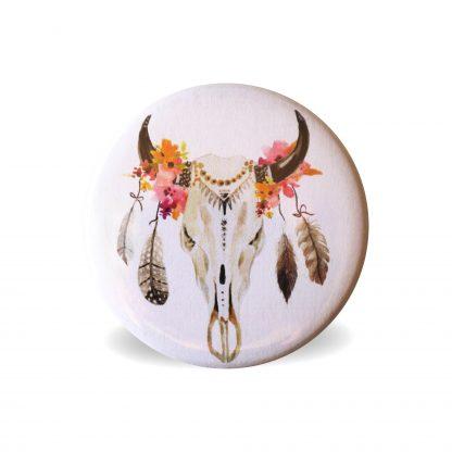 Magnet boho ethnique indien crane de bison sauvage wildlife déoration cuisine intérieur home - Julie & COo