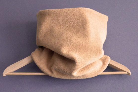 Snood adulte mixte tissu wax zigzag polaire beige chamois réversible graphique vêtement chaud hiver ski tour de cou écharpe - Julie & COo