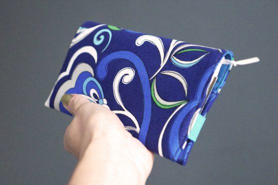 Agenda 2019 semainier carnet notes couverture tissu handmade coton fleurs bleu vert gris élastique fermeture turquoise cadeau rentrée organiseur rendez-vous répertoire - Julie & COo