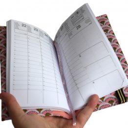 Agenda rentrée scolaire 2020-2021 tissu graphique écailles japonaises roses provençal organisation planning femme - Julie & COo