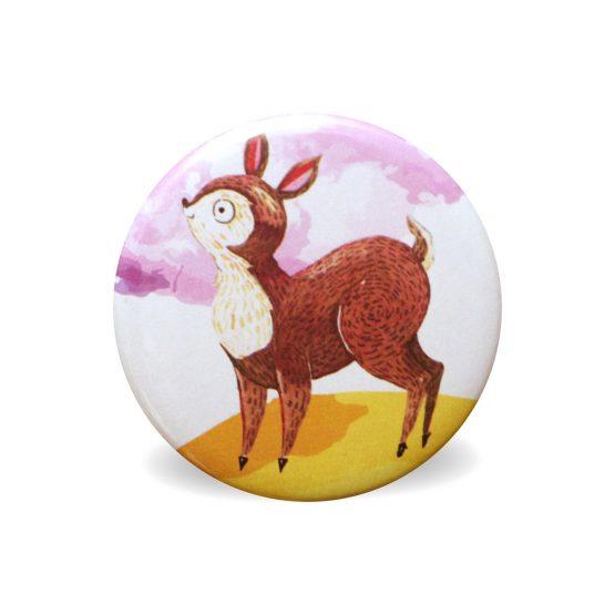 Magnet faon aquarelle coloré rond aimant frigo cuisine decoration 56 mm cadeau mignon enfant - Julie & COo