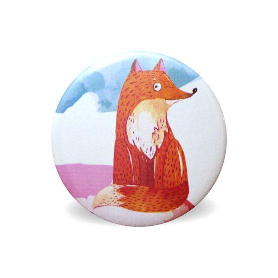 Magnet renard aquarelle coloré rond aimant frigo cuisine decoration 56 mm cadeau mignon enfant - Julie & COo